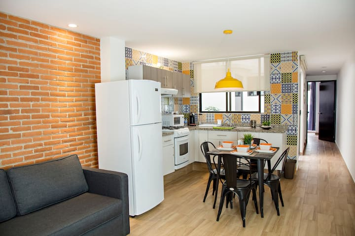 Modern Mexico City apartment @ historic district