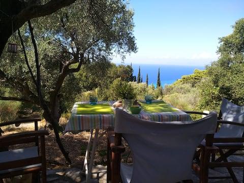 Holzstudio mit Aussicht Agios Nikitas