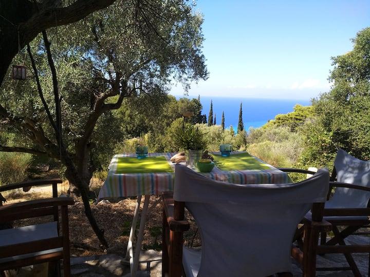 Wooden Studio with View Agios Nikitas