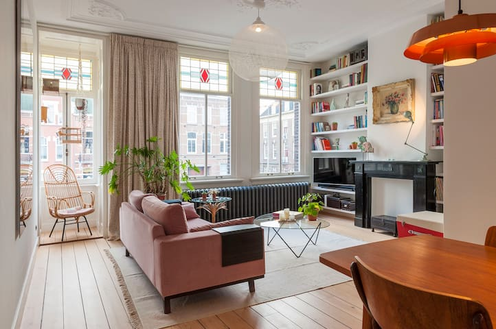 Characteristic town house with design vibes.