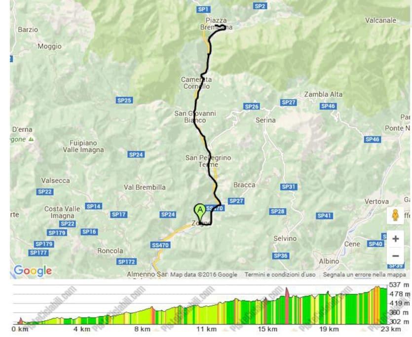 (Ciclovia Val Brembana) realizzata sfruttando il vecchio percorso del famoso trenino della Val Brembana