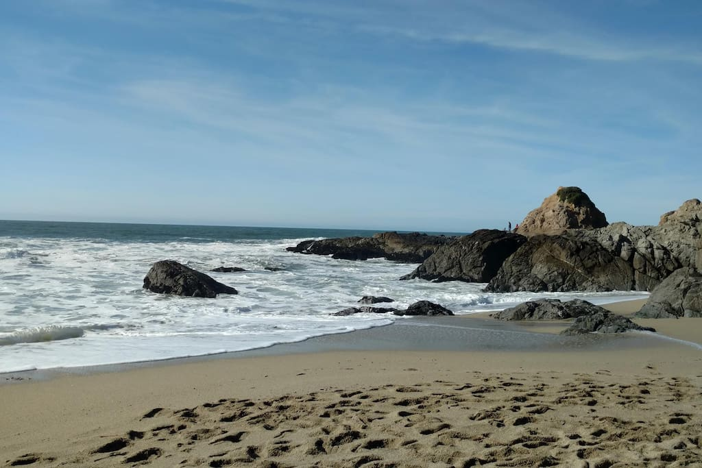 Beautiful beach below Bodega Head