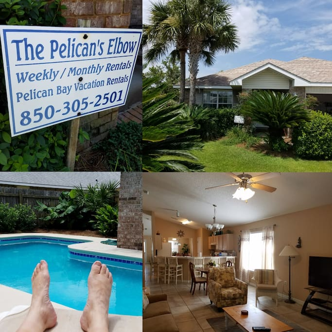 Relax at beautiful Pelican's Elbow, 4 BR, private pool, HDTVs, videos