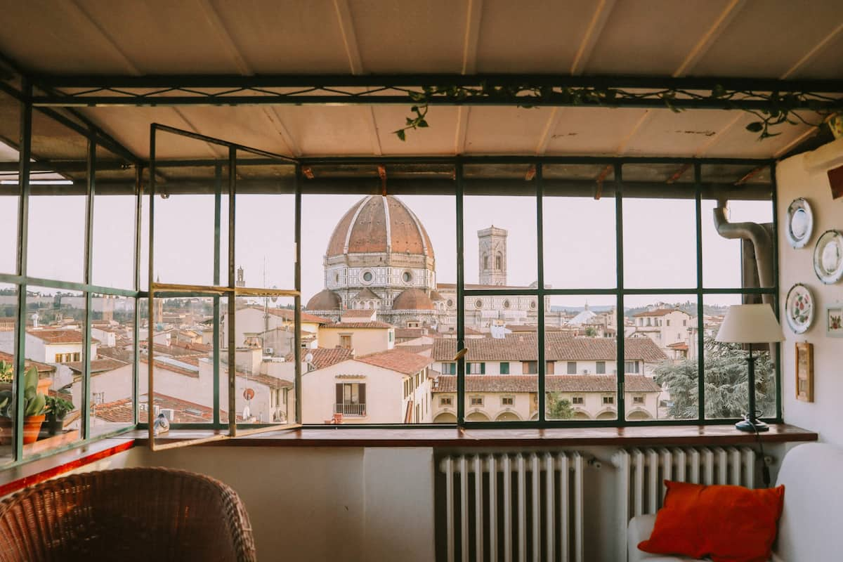 airbnb in florence with view of duomo