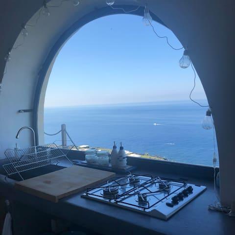 Dammuso vista mare - Punta Kharace