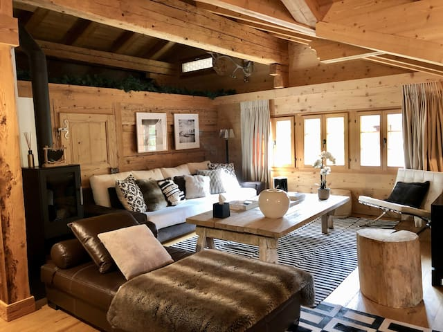 Gstaad beautiful design apartment in an old chalet