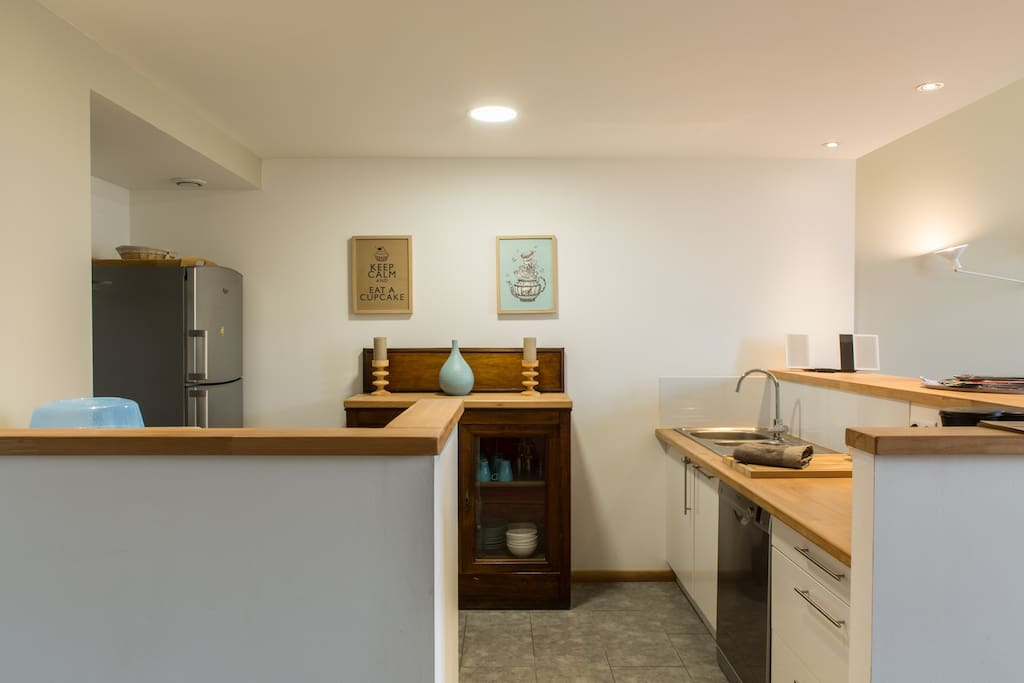 Kitchen open concept facing living and dining room