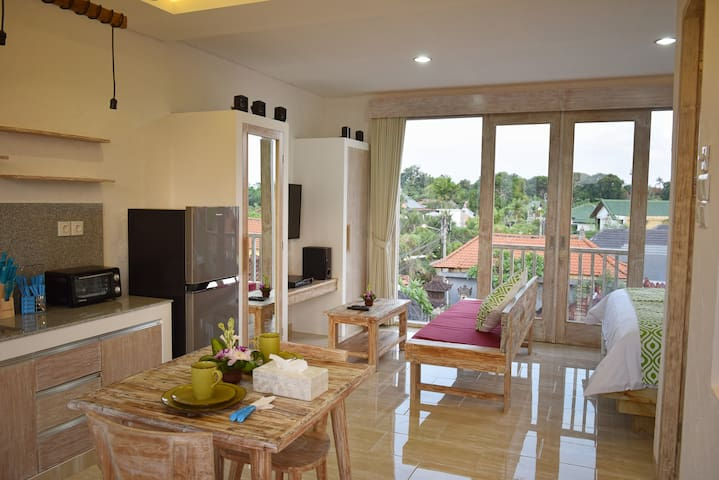New Open! ★ Nice view Green Studio in Sanur,No31 - Denpasar Selatan - Appartement