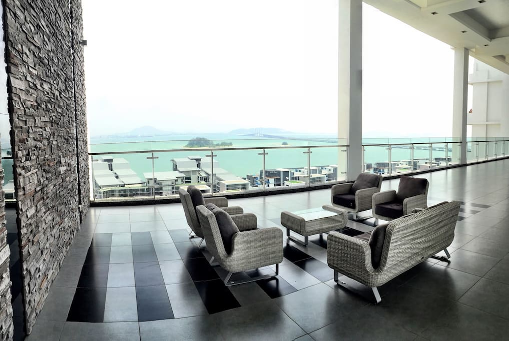 Open lounge at 16th floor.