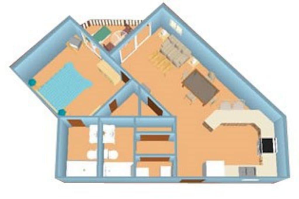 Floor layout of unit