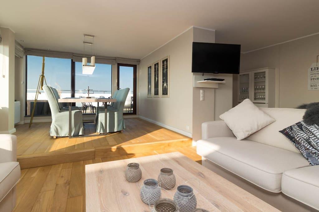 luxuspenthouse horizonte mit eigener sauna h user zur miete in sankt peter ording. Black Bedroom Furniture Sets. Home Design Ideas