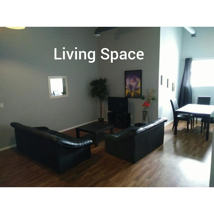 Large 1550 sq ft 3 bedroom Loft with 2 baths