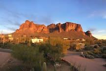 View of Superstiton Mountain