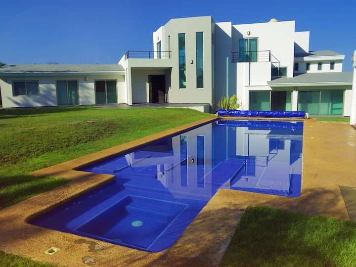 Large house with heated pool