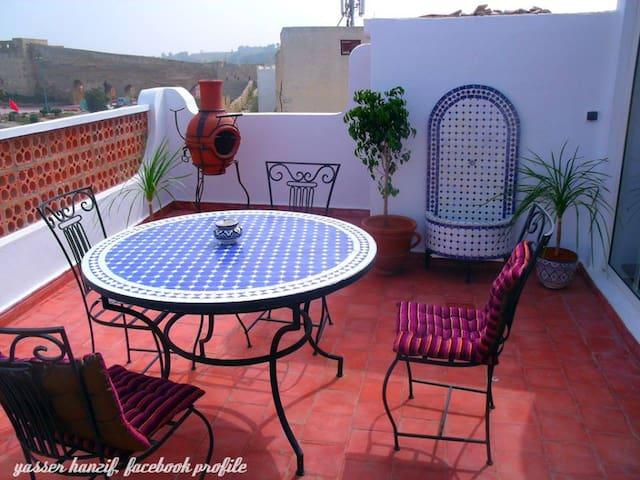 Riad, belle terrasse vue - Safi - Huis