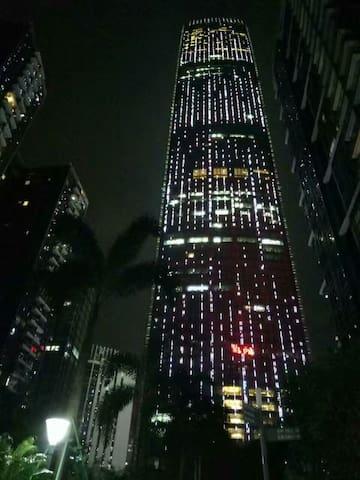 KKmall楼上,温馨一室一厅~【美丽的夜景和便利的交通】 - Shenzhen - Appartement