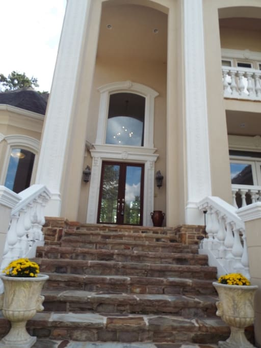 Dramatic Front Entrance