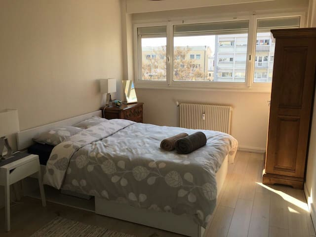 Nice room in cozy flat, central square near Geneva - Annemasse - Appartement