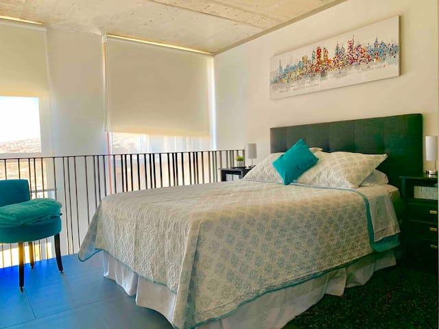 Fresca e iluminada habitación en la Primavera/Verano