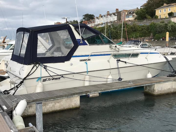 'Never Enough' Boat Stays in Brixham Marina, Devon