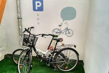 puedes aparcar tu bicicleta en el patio