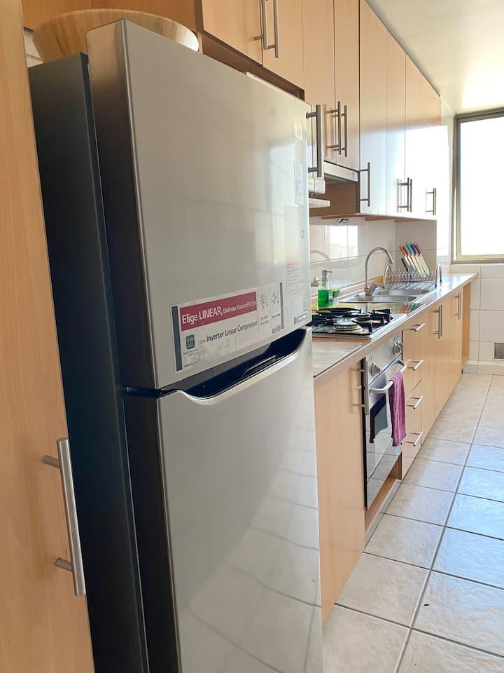 Espectacular Dept 2 habitaciones en Providencia