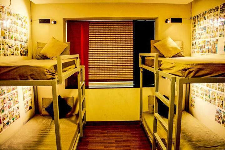 2 Beds in 4 Bed Dorm @ goStops Delhi