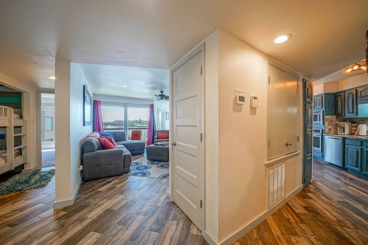The unit is very spacious and upon entrance has a very open floor plan