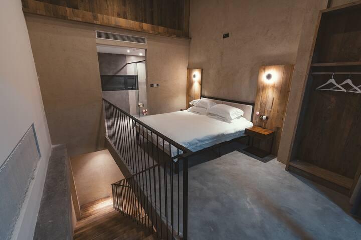 嵊泗泗礁岛左岸屿轻奢民宿复式Loft大床房(带无边泳池、海景餐厅)