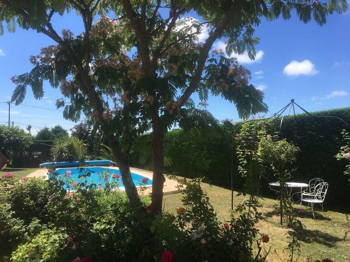Maison 12 personnes piscine Guérande La Baule