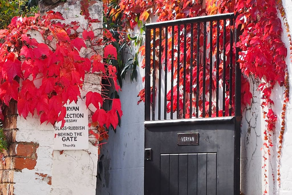 Enter by the gate up a quiet alley . . .