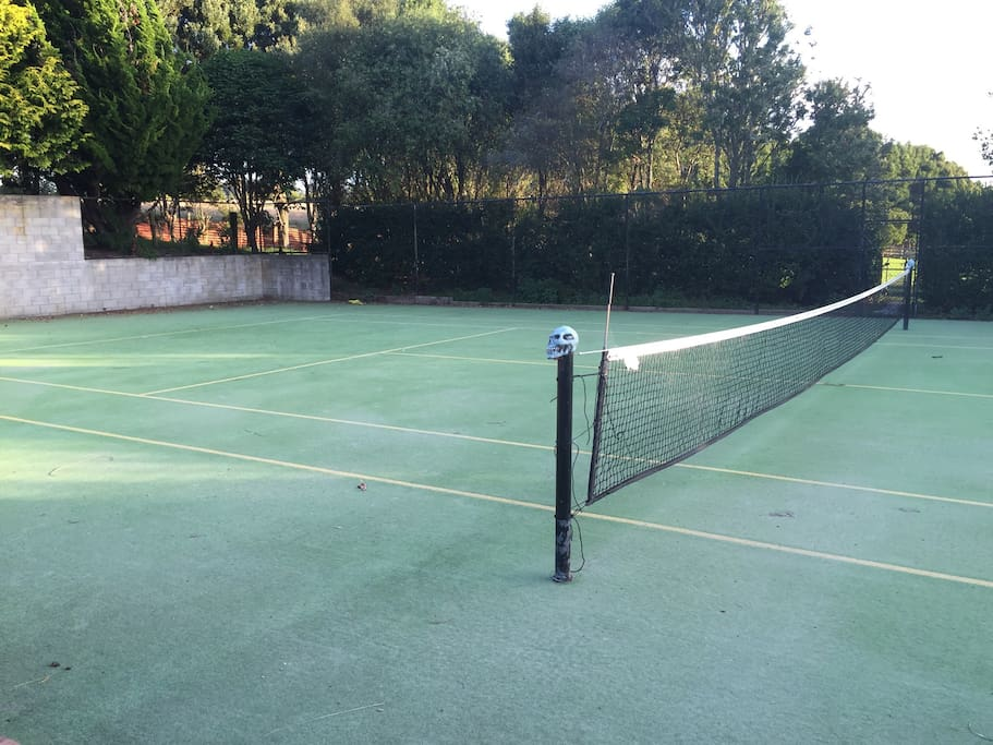 Have a game of tennis then jump in the pool