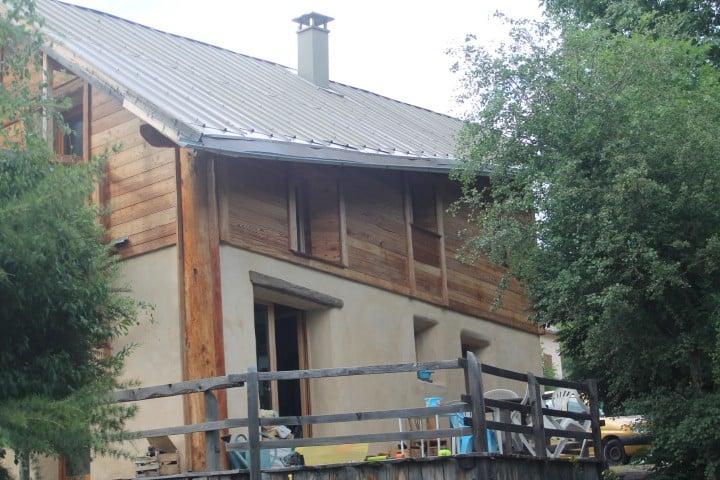 Wodden house in a small village close to Briançon