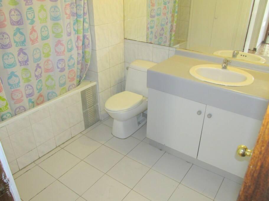 Baño compartido con solo 1 persona