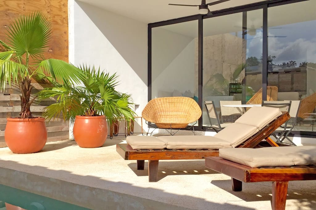 private terrace with plunge pool