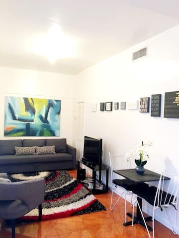 Beautiful flooring throughout entire apartment