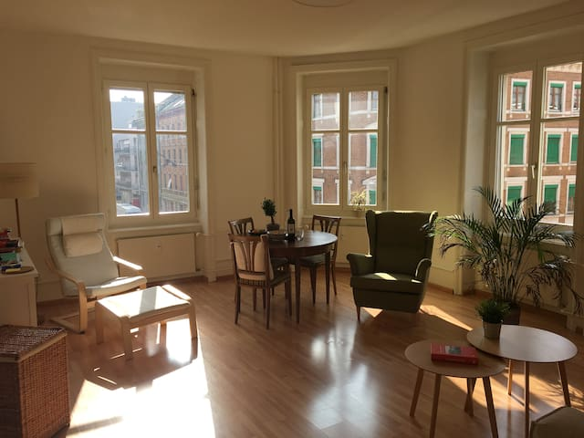 8 min to Baselworld, bright and clean apartment - Basilea - Pis