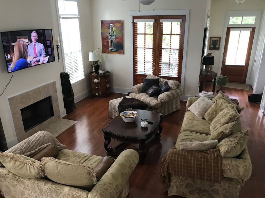 Large, casual living room opens to kitchen for hours of enjoyment together!