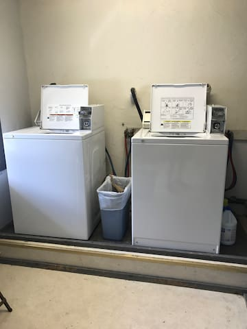 Coin operated Washing Machines on site