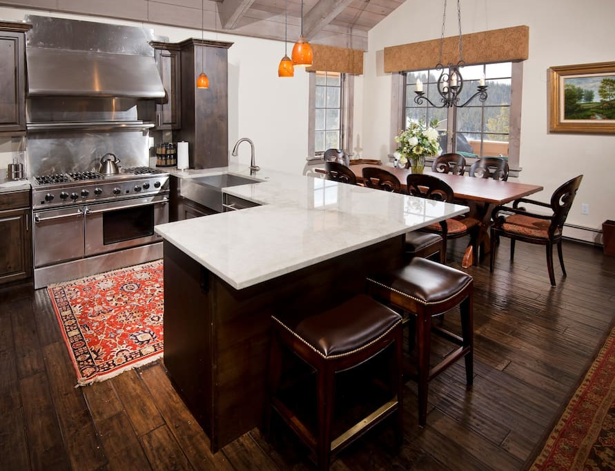 The fully-equipped and updated kitchen is every cook's dream.
