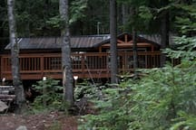 Front of cabin.