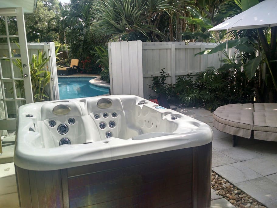 Hot tub directly outside your door.