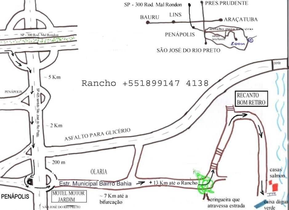 Localização do Rancho Harmonia