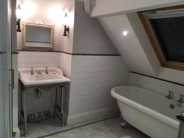 Newly converted attic in Edwardian house, Didsbury