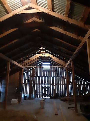 Camping in a hayloft