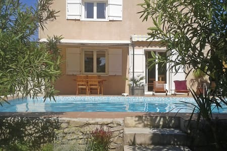 Comfortable house with private pool and enclosed garden, walking distance bakery