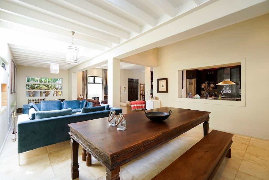 Open plan dining room and living space