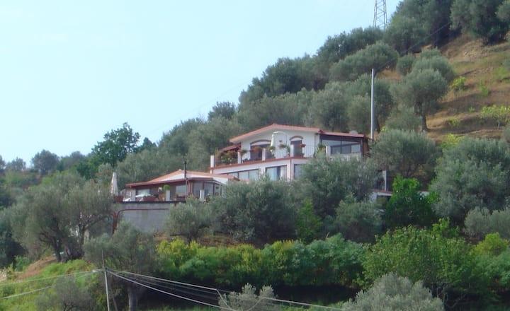 Villa 15 posti letto in 4 appartamenti