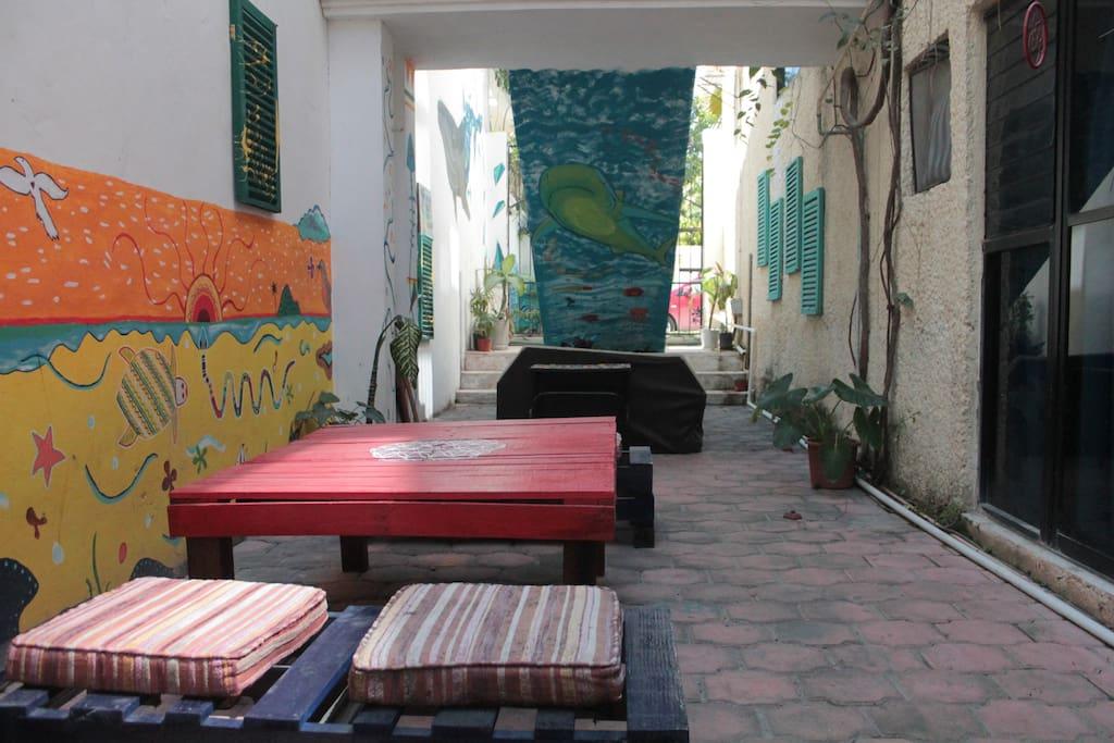 Areas comunes, jardín con hamacas, wifi