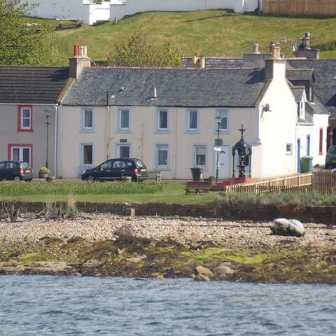 Armadale House is literaly on the sea shore